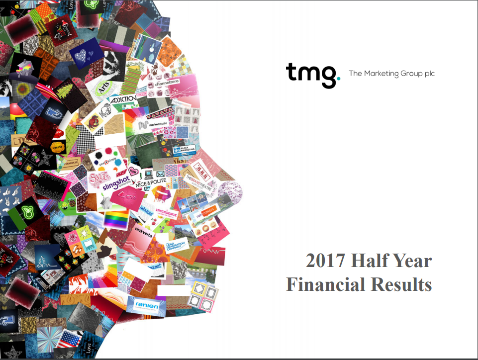 THE MARKETING GROUP PLC FINANCIAL RESULTS FOR THE HALF YEAR ENDED 30 JUNE 2017